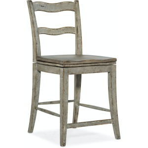 Alfresco La Riva Ladder Back Swivel Counter Stool