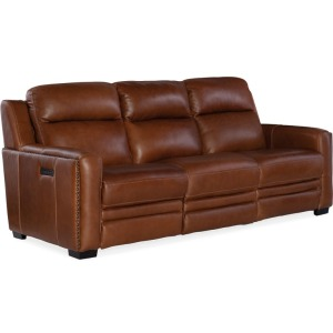 Lincoln Power Recline Sofa w/ Power Headrest and Lumbar Recline