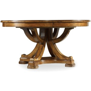Furniture Tynecastle Round Pedestal Dining Table with One 18\