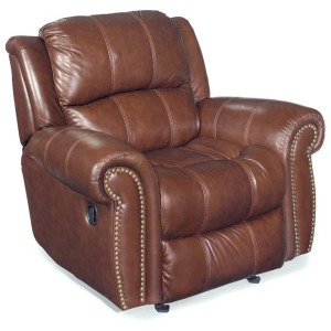 Furniture Cognac Glider Recliner Chair