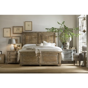 King Panel Bedroom Set W/ 3 Drawer Nightstand