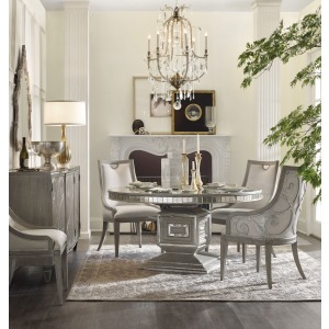 6 PC Dining Room Sanctuary Round Dining Table