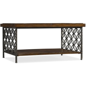 Furniture Cocktail Table w/Patterned Iron