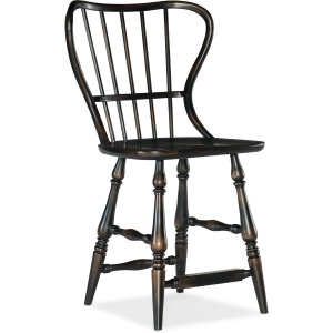 Ciao Bella Spindle Back Counter Stool -Black