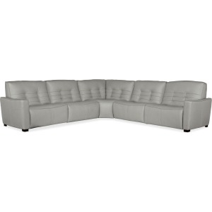 Reaux 5-Piece Power Recline Sectional w/3 Power Recliners
