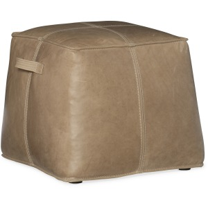 Dizzy Small Leather Ottoman