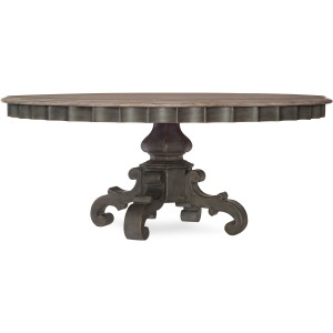 Arabella 72in Round Pedestal Dining Table