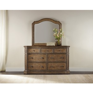 Solana Seven-Drawer Dresser & Mirror