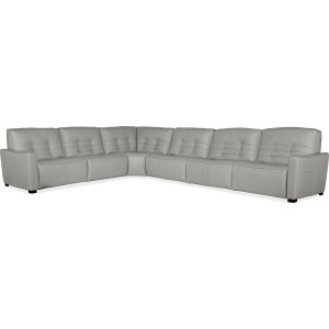 Reaux 6-Piece Power Recline Sectional w/3 Power Recliners