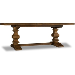 Archivist Trestle Table w/2-18in Leaves