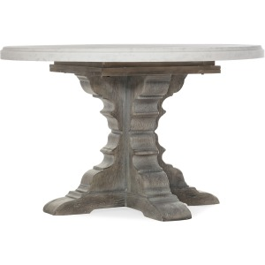 Beaumont Round Dining Table with 48in Marble Top