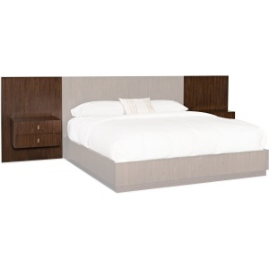 Melange Two Wall Panels and Nightstands