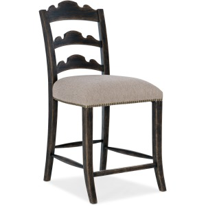 La Grange Twin Sisters Ladderback Counter Stool