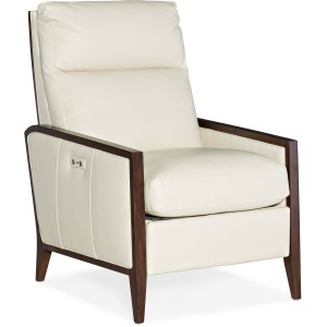 Karter Wood Accent Power Recliner