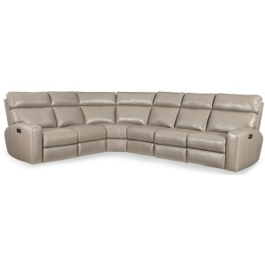 Mowry 4-Piece Power Sectional w/3 Power Recline w/ Power Headrest