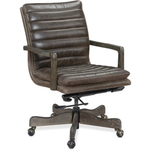 Langston Executive Swivel Tilt Chair w/ Metal Base