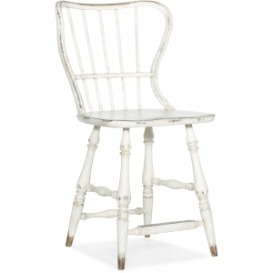 Ciao Bella Spindle Back Counter Stool-White