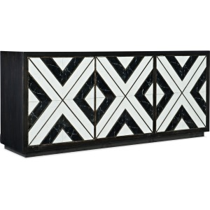 Sanctuary Noir Et Blanc Entertainment Console