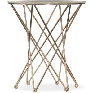 Highland Park Round End Table w/Marble Top