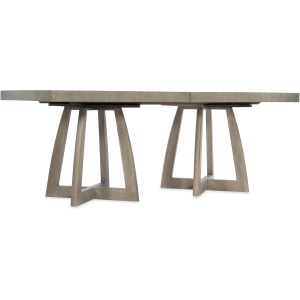 Affinity 78in Rectangle Pedestal Dining Table w/2-18in Leaves