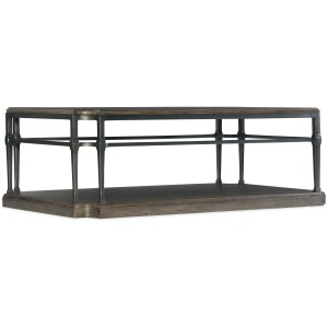 Woodlands Rectangular Cocktail Table w/ Metal