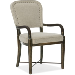 Crafted Upholstered Arm Chair