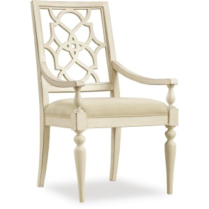 Sandcastle Fretback Arm Chair - Upholstered Seat