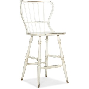 Ciao Bella Spindle Back Bar Stool-White