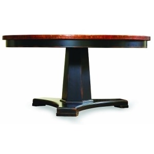 Sanctuary 60in. Round Pedestal Dining Table - Ebony & Copper