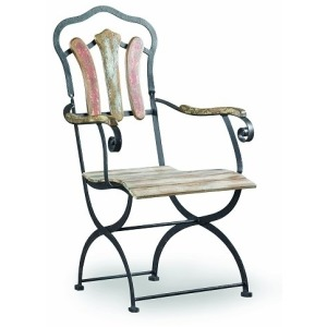 Sanctuary Bistro Chair - Yellow, White, Red, & Blue
