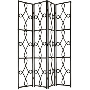 Sanctuary Four Panel Screen - Ebony