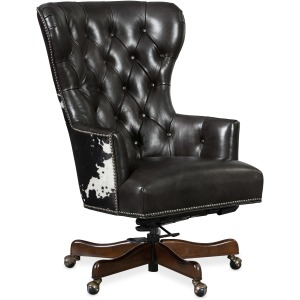 Katherine Executive Swivel Tilt Chair w/ Black & White HOH