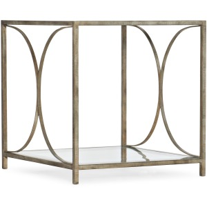 Novella Wavecrest Metal and Glass End Table