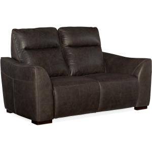 Athena Power Leather Motion Loveseat