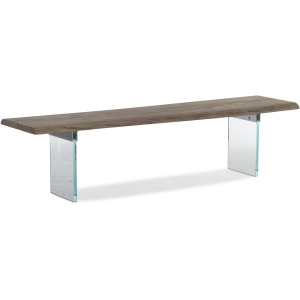 Organic Dining Bench with Glass Legs