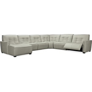 Reaux Grandier 6-Piece LAF Chaise Sectional w/ 2 Recliners