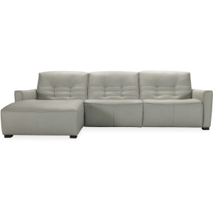 Reaux Power Motion Sofa w/ LAF Chaise w/2 Power Recline
