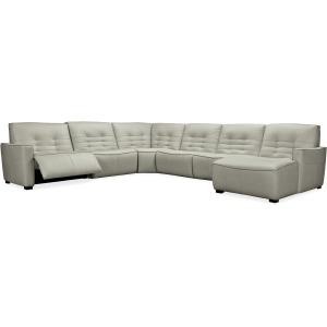 Reaux Grandier 6-Piece RAF Chaise Sectional w/ 2 Recliners
