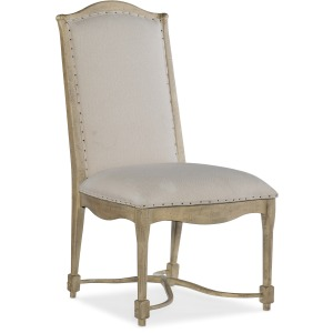 Ciao Bella Upholstered Back Side Chair- Natural