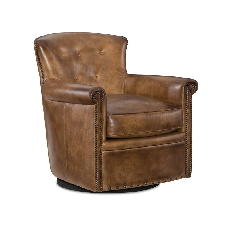 Tremendous Living Room Jacob Swivel Club Chair By Hooker Furniture Creativecarmelina Interior Chair Design Creativecarmelinacom