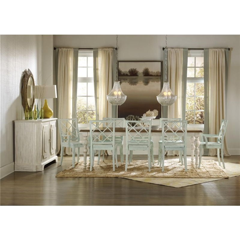 Furniture Sunset Point Rectangle Dining Table with Two 18