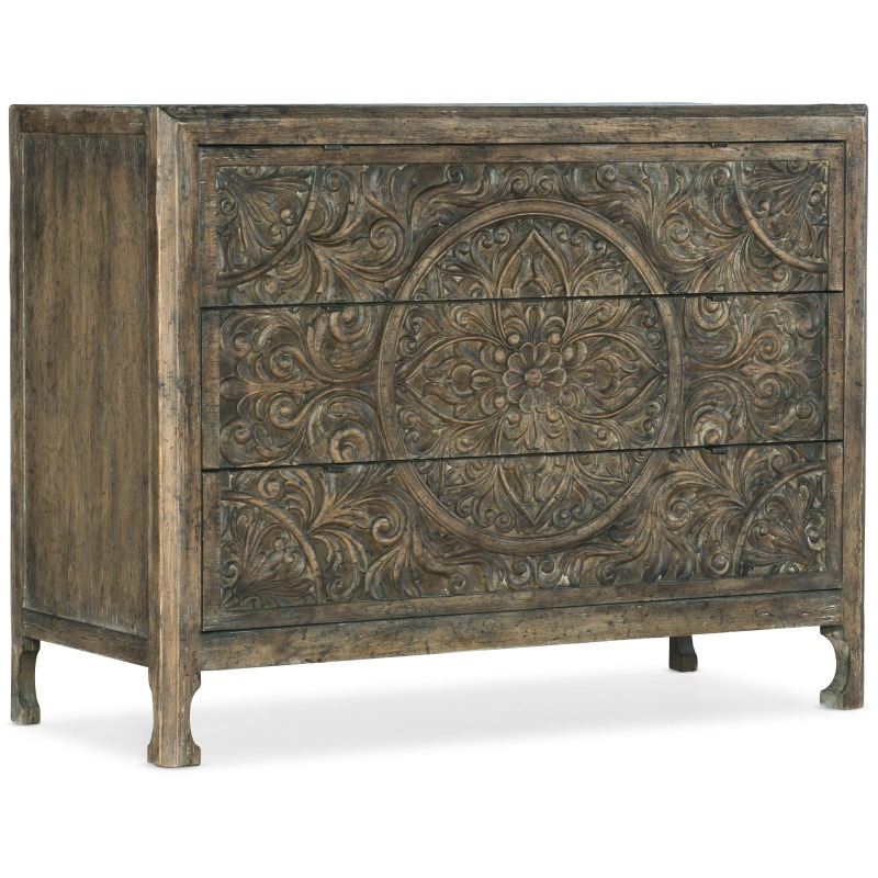 La Grange Lockhart Three-Drawer Accent Chest Silhouette