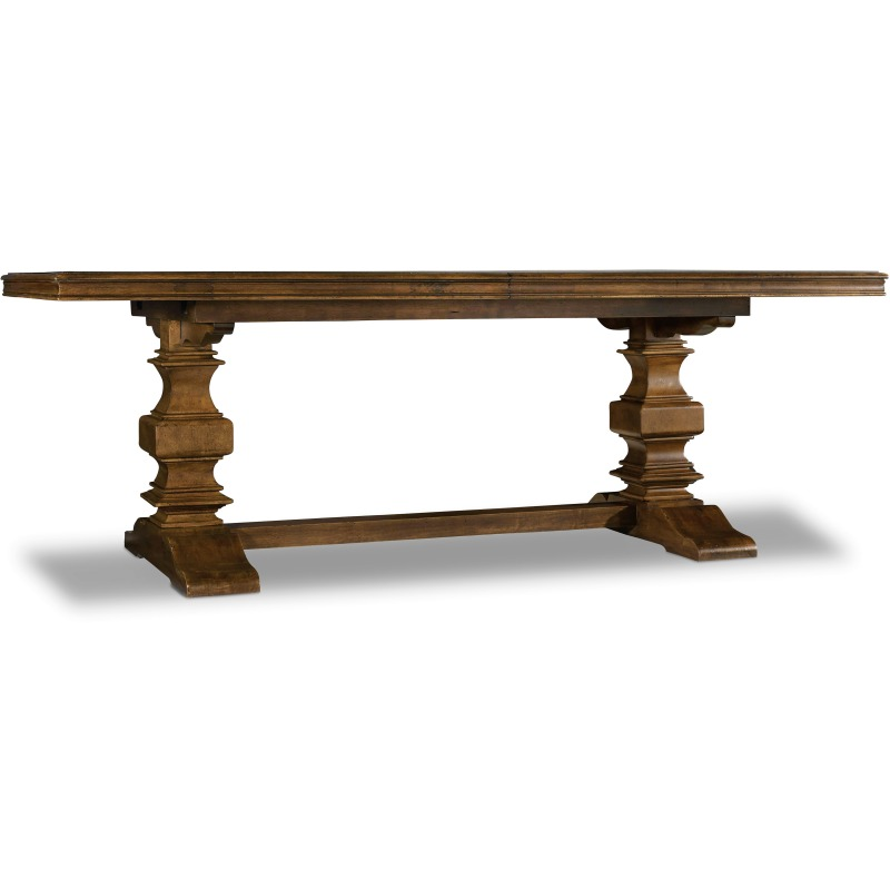 Archivist Trestle Table w/2-18in Leaves Silhouette