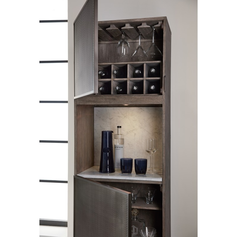 Melange Virtrine Bar Cabinet Detail