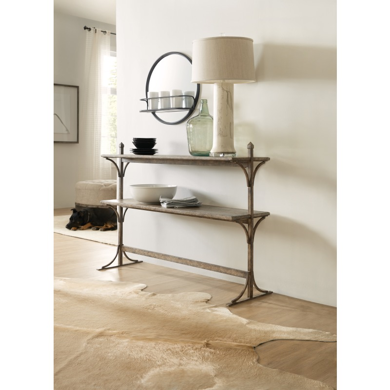 La Grange South 77 Metal and Wood Console Room