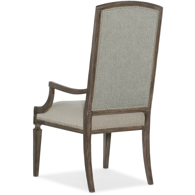 Woodlands Arched Upholstered Arm Chair Silhouette