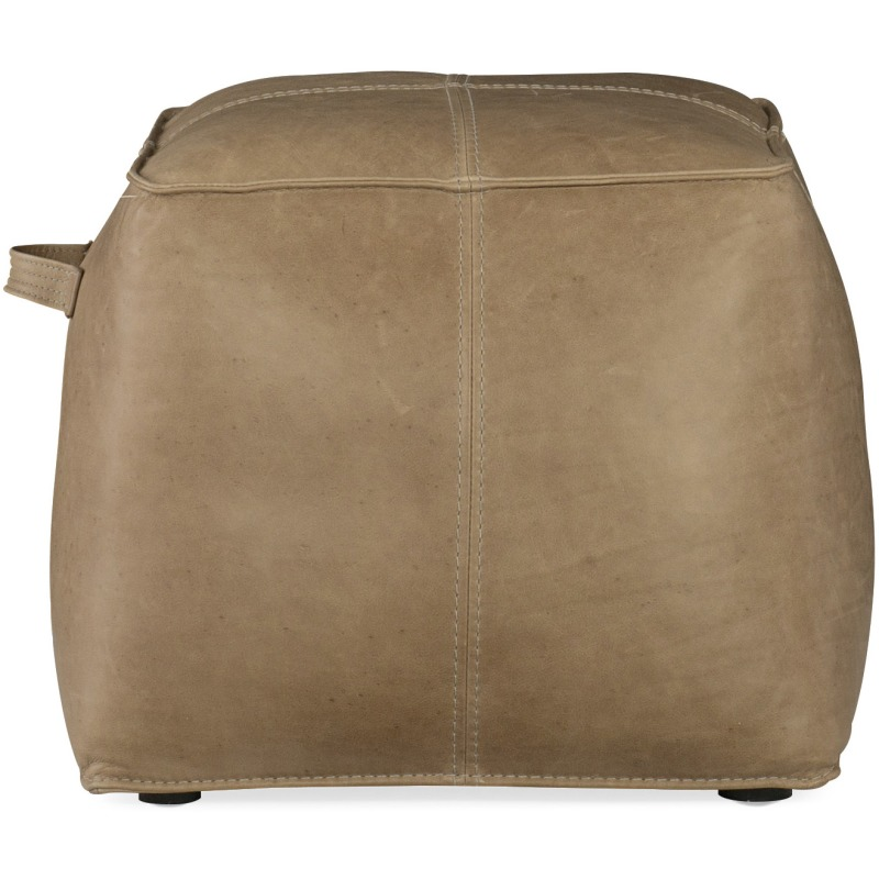 Dizzy Small Leather Ottoman Silhouette