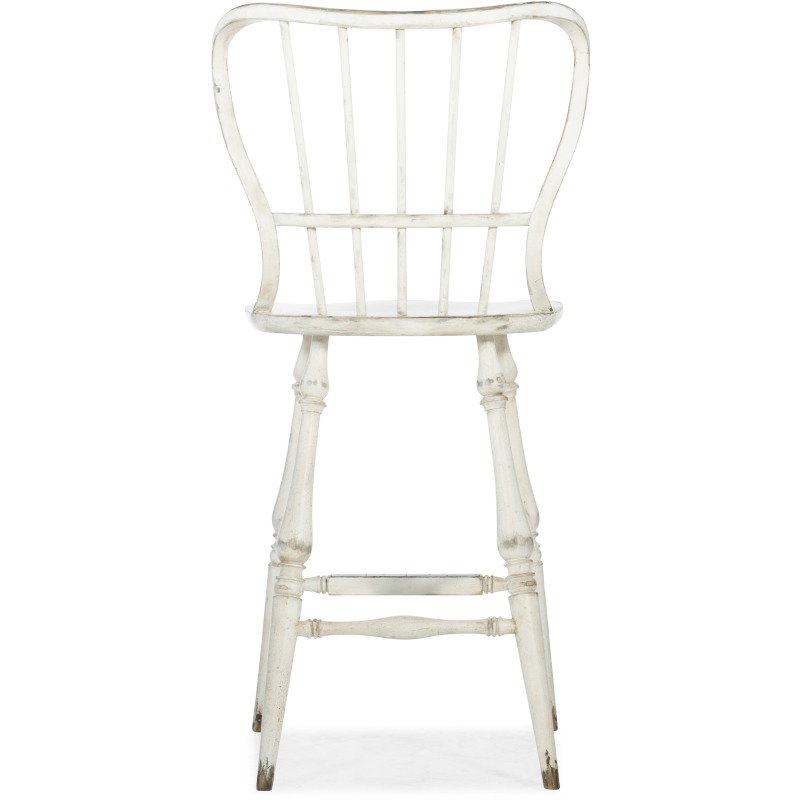 Phenomenal Ciao Bella Spindle Back Bar Stool White By Hooker Furniture Evergreenethics Interior Chair Design Evergreenethicsorg