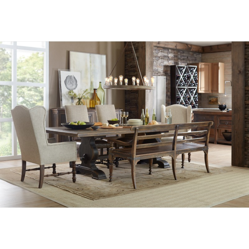 Hill Country Helotes Dining Bench Room