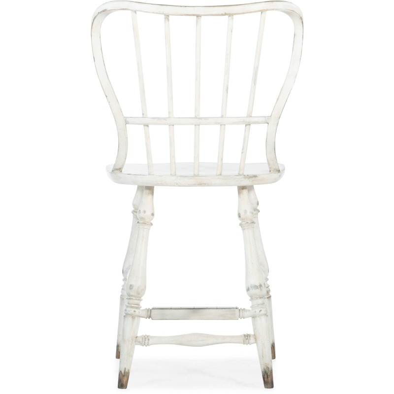 Marvelous Ciao Bella Spindle Back Counter Stool White By Hooker Evergreenethics Interior Chair Design Evergreenethicsorg
